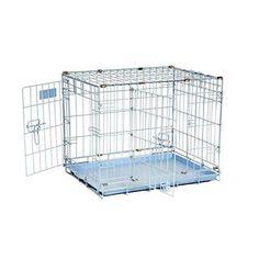 """Precision Pet """"ProValu"""" Double Door Dog Crate Blue"""