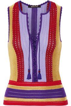 https://www.net-a-porter.com/gb/en/product/797904/roberto_cavalli/lace-up-striped-crochet-knit-top