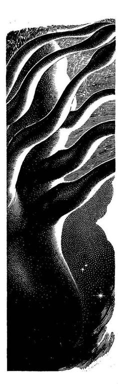 Virgil Finlay, The Honored Prophet by William E. Bentley, If Worlds of SF 54-11, P.79.
