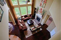 2 story living room - design idea