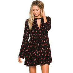 Intimately Free People Tegan Floral Cutout Dress