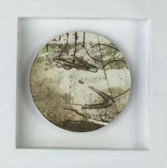 Collagraph, Hirst, Mixed Media Canvas, Nocturne, Floating Frame, Sally, Modern Art, Abstract Art, Original Art