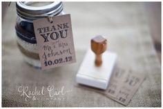 Easy DIY your wedding favours with a stamp! ~ Wedding Ideas ~ Before The Big Day