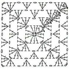 Transcendent Crochet a Solid Granny Square Ideas. Inconceivable Crochet a Solid Granny Square Ideas. Crochet Diagram, Crochet Chart, Crochet Basics, Crochet Motif, Crochet Stitches, Knit Crochet, Granny Square Pattern Free, Crochet Squares, Crochet Granny