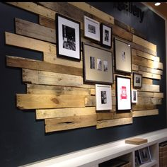 unique home accents home accents walls Love! Pallet Walls, Wooden Walls, Pallet Furniture, Cafe Design, House Design, Wooden Accent Wall, Accent Walls, Diy Home Decor, Room Decor