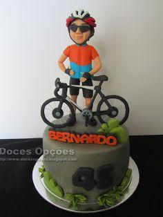 Doces Opções: Bolo de aniversário do ciclista Bernardo Bicycle Cake, Bike Cakes, Birthday Cakes For Men, Birthday Cupcakes, Mountain Bike Cake, Bolo Fresco, Cupcakes For Men, Bolo Minnie, Sweet Magic