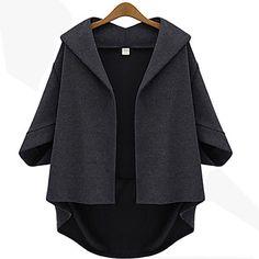 Yiluo, vrouwen, mode, revers, de hals, 3/4, mouw, jas - EUR € 24.54