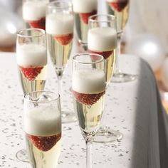 Jellied Champagne Dessert.  Be the only one original, to do their own champagne at home, and that way it makes it more special to make a brindis with the champagne, start in this year doing it, and so on, until you make it a tradition to prepare your own champagne!
