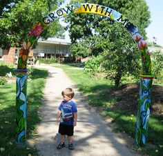 I love this entry! Our school garden is gated but maybe we could do something like this for the path before the grades' beds start.