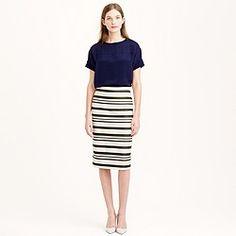 Double-stripe pencil skirt