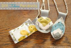 The Remodeled Life: DIY Fabric Pendants