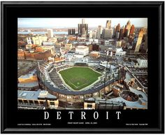 This Art.com framed wall art takes you back to Detroit's first night game at Comerica Park. <ul> <li>Acrylic coating protects from dust, moisture and fading</li> <li>''Detroit First Night Game April 12, 2000'' caption</li> <li>Photographer: Mike Smith PRODUCT DETAILS</li> <li>8.5''H x 10.5''W x 1''D</li> <li>Paper, acrylic, metal</li> <li>Horizontal D