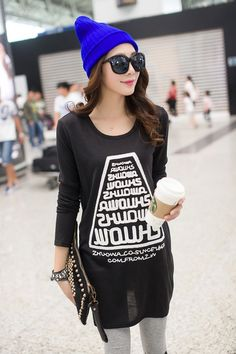 TC001043 Long sleeve Korean style autumn and winter bottoming T-shirt