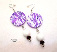 Multi listing PURPLE OOAK listing is for one pair by TNETTE3, $15.00