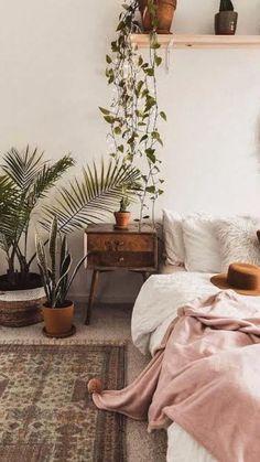 Boho Decor Diy, Bohemian Bedroom Decor, Home Decor Bedroom, Modern Bedroom, Bedroom Ideas, Bedroom Furniture, Bohemian Style Bedrooms, Bedroom Black, Modern Furniture