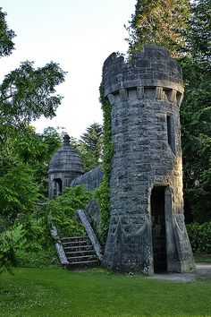 I'd kill to go to Ireland. Towers in the Garden of Ashford Castle, Cong, Mayo, Ireland. Ashford Castle is a medieval castle turned luxury hotel. by HangtownGal Chateau Medieval, Medieval Castle, Medieval Tower, Medieval Fortress, Medieval Houses, Medieval Life, Beautiful Castles, Beautiful Places, Amazing Places