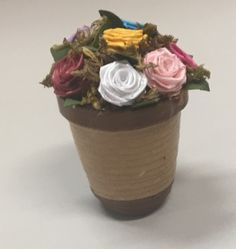quilling pot roses