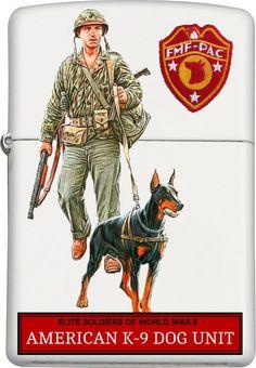 American K-9 Dog Unit Zippo Custom Design