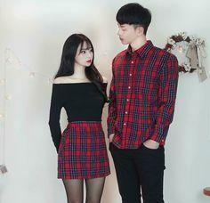 Semi-Formal Style Matching Couple Outfit idea… on Stylevore Matching Couple Outfits, Matching Couples, Cute Couples, Ulzzang Fashion, Asian Fashion, Fashion Fall, Fashion Men, Fashion Trends, Picture Outfits