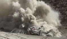 KTM rider Riaan Van Niekerk of South Africa falls while riding on fesh-fesh during the 5th stage of the 2013 Dakar Rally from Arequipa, Peru, to Arica, Chile, Wednesday, Jan. 9, 2013. AP / Victor R. Caivano