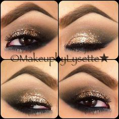 I selected this image for the high arched eyebrow, and the glitter design on the eyebrow, as well as the strong lower eyeliner.  5f7d0c18a00bcce32931ead345e4deae.jpg (720×720)