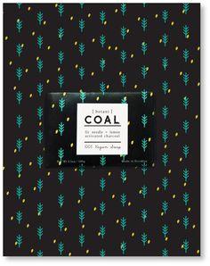 [botani] COAL - Soap Packaging design by LEMON SANUK KIM, via Behance