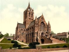 Victorian Britain, antique photo from the reign of Queen Victoria,Coates Memorial Church, Paisley, Scotland Church Of Scotland, Paisley Scotland, Religious Architecture, Gothic Architecture, Kingdom Of Great Britain, Cathedral Church, Old Churches, England And Scotland, Place Of Worship