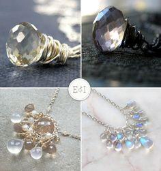 I like these chubola crystals and semi-precious