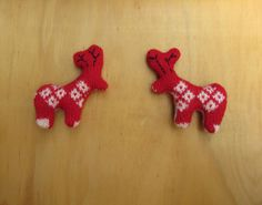 recycled sweater/jumper reindeer with embroidered antlers