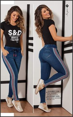 48 Women Jeans Style To Look Cool And Fashionable - Summer Fashion New Trends Sexy Outfits, Casual Outfits, Cute Outfits, Denim Fashion, Fashion Pants, Fashion Dresses, How To Make Clothes, Diy Clothes, Jean Moda