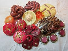 Great Lot Vintage Pink Lavender Celluloid Buttons Pairs   eBay