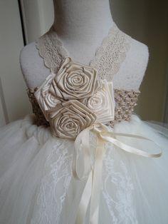 flower girl wedding tutu  love the flowers