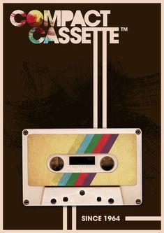 'Compact Cassette' von Roxana Vazquez bei artflakes.com als Poster oder Kunstdruck $18.03