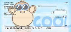 Jen Goode's Monkey Personal Checks too cute @Jen Goode :)