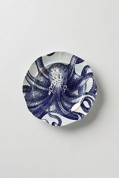 From The Deep Salad Plate, Octopus #anthropologie