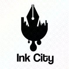 Ink City logo Design Sample Made By LogoPeople Australia #Logo #Design #InkLogo