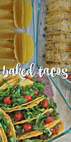 Take your tacos to the next level with this Baked Tacos recipe! Create the perfect meal with all your favorite taco toppings without the taco crumbling all over your plate.