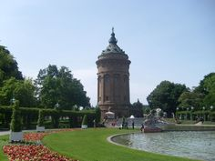 The Water Tower in Manheim, Germany......my mother is from a small town near here