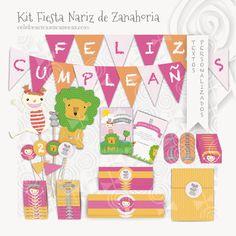 Celebraciones Caseras: kit fiesta niñas