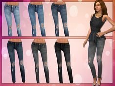 Ripped Skinny Jeans by LollaLeeloo