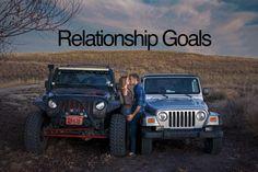 His and Hers jeeps :) So cute! #BrandenLudski #MadiSollie #jeepgirl
