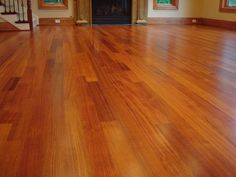 hARDWOOD FLOOR REMOLDING | Refinished Brazilian Cherry Hardwood Floor - Medina, WA