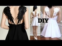 DIY Gothic Angel Wing Dress + Pattern | Recreating Fashion DIY - YouTube