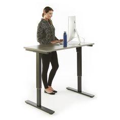 "Boardwalk Adjustable Height Table Desk - 48""W | National Business Furniture #modernoffice #modern #moderndesign"
