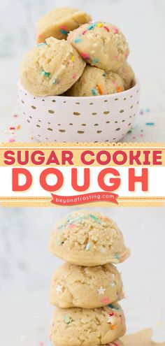 Here's a quick and easy dessert recipe the next time you crave a sweet treat! 6 ingredients are all you need for this Edible Sugar Cookie Dough. Check out some mix-in ideas and serving suggestions for the egg-free cookie dough! Edible Sugar Cookie Dough, Cookie Dough Recipes, Easy Desserts, Dessert Recipes, Cravings, Sweet Treats, Easy Meals, Snacks, Cookies