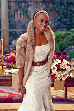 Photo by Sarah Maren Photographers, sarahmaren.com (c) Real Weddings Magazine, realweddingsmag.com. Appears in Real Weddings Magazine's Winter/Spring 2011 issue. Concept by Kate Miller Events, katemillerevents.com. Flowers and design by Flourish, flourishdesigns.com. Shot on location at Courtyard D'Oro, courtyarddoro.com. Dress from The Bridal Box, thebridalbox.net. Hair and Makeup by Makeup by Jenifer Haupt, www.imakebeautiful.com