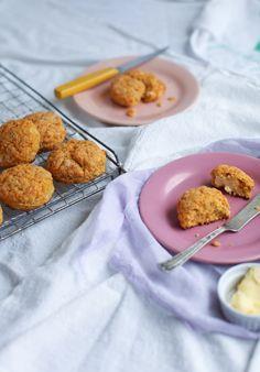 Tender Sweet Potato Red Lentil Biscuits || Simple Bites