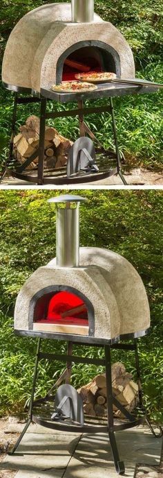 Four à pizza bois : Outdoor Wood Fired Oven – Holz Wood Fired Oven, Wood Fired Pizza, Pizza Oven Outdoor, Outdoor Cooking, Outdoor Fire, Outdoor Living, Outdoor Decor, Four A Pizza, Patio Swing