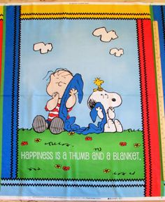 Project-Linus-Connection-Happiness-Is-Peanuts-Schultz-Fabric-Panel-1-Yard-22624