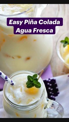 Pineapple Drinks, Pineapple Recipes, Pineapple Coconut, Canned Pineapple, Mexican Drinks, Mexican Food Recipes, Ethnic Recipes, Yummy Drinks, Healthy Drinks